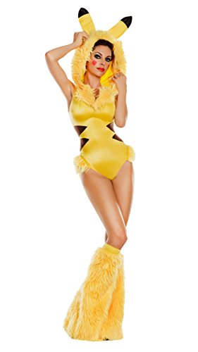 Party King Women's Collectible Animé Cutie Costume, Yellow,