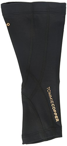 (Tommie Copper Unisex Performance Compression Calf Sleeve, Black w/ Tonal Stitch, Medium)