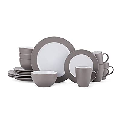 Gormet Basic Bradley Taupe 16-piece Dinnerware Set