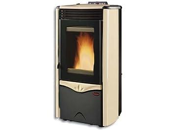 Estufa de pellet Flame extra Enchufe de SA Steel - Pergamena: Amazon.es: Bricolaje y herramientas