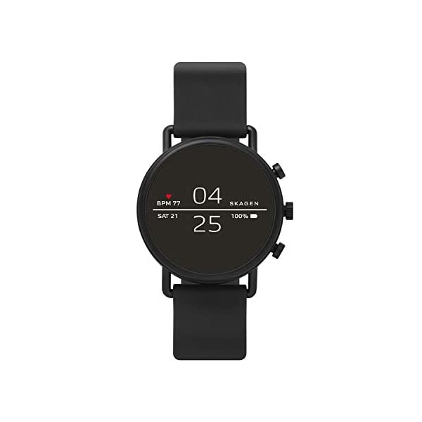 Skagen Connected Falster 2 Stainless Steel and Silicone Touchscreen Smartwatch