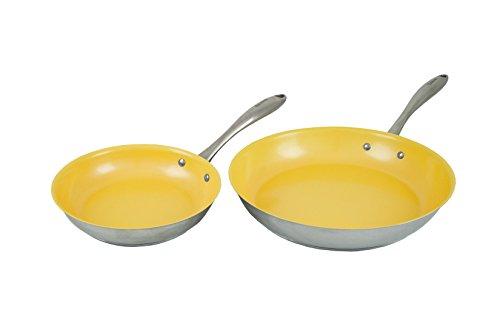 """Tuxton Home Concentrix Nonstick Color Frypans, 8"""" and 11"""", S"""