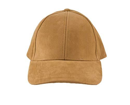 Hearts Hats Premium Designer Faux Suede Hat - Baseball Tan Hat