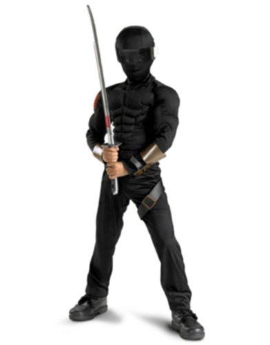 [Snake Eyes Classic Muscle Costume - Large] (Gi Joe Snake Eyes Costume Kids)