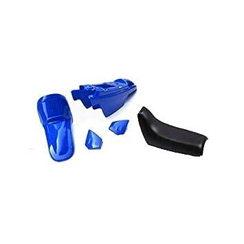 ART - Kit de embellecedores de plástico azul YAMAHA 50 PW 90 – 17 con sillín completo negra: Amazon.es: Coche y moto