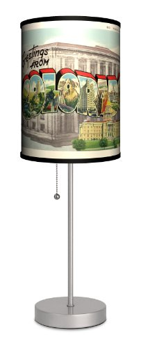 Travel - Colorado Postcard Sport Silver Lamp by Lamp-In-A-Box