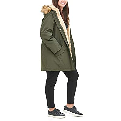 Levi's Women's Faux Fur Lined Hooded Parka Jacket (Regular and Plus Sizes): Clothing