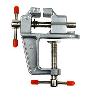"C-Pioneer 3.5"" Aluminum Miniature Small Jewelers Hobby Clamp"