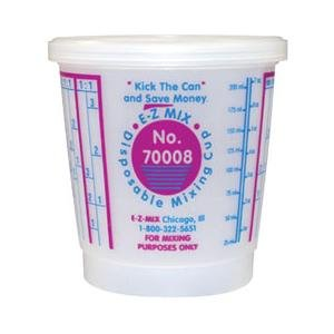 Disposable 1/2 Pint Mixing Cup - 100 1/2 Pint Disposable Mixing Cups 100/Box
