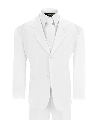 Baby Boy's Formal Dresswear Set G214 (Medium/6-12 Months, White Suit) (2)
