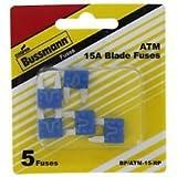 Bussmann ATM-15 ATM Automotive Blade Fuse - 15 Amp, 5 Pack (Tin)