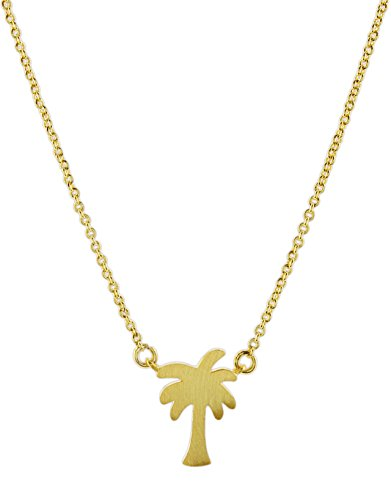 Bamboo Trading Company Gold-Plated Brushed Metal Necklace on 16