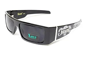 Locs Hardcore Gangster Thug Biker Sunglasses Mens Black Skull Lc59