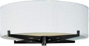 ET2 E95400-100OI Elements 3-Light Flush Mount, Oil Rubbed Bronze Finish, Glass, GU24 Fluorescent Bulb, 50W Max., Dry Safety Rated, 2700K Color Temp., Acrylic Shade Material, 2500 Rated - 100oi Elements Oil