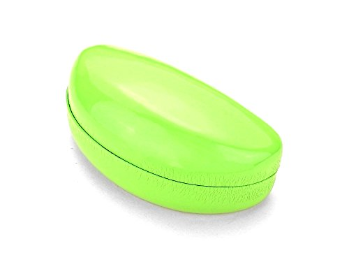 Green Hard Case Clamshell Eyewear Reading Glasses Case