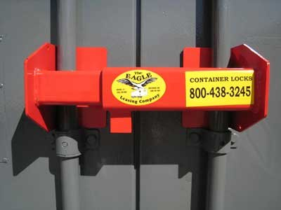 Shipping container lock box high security heavy duty with