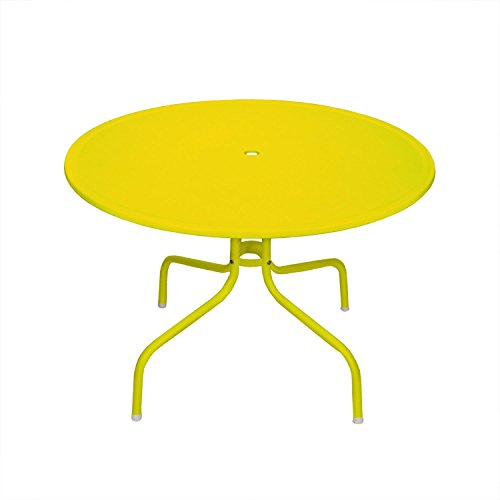 Northlight 39.25'' Yellow Retro Metal Tulip Outdoor Dining Table by Northlight
