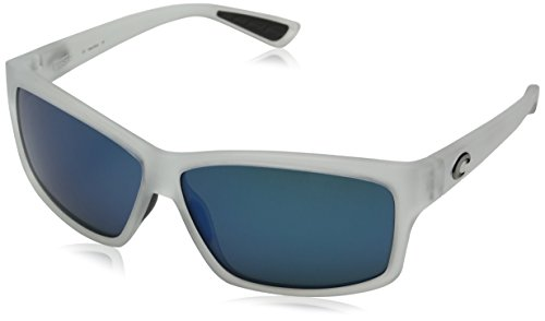 Costa Del Mar Cut Adult Polarized Sunglasses, Matte Crystal/Blue Mirror 400 Glass, - Cut Costa