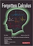 img - for Forgotten Calculus 3th (third) edition Text Only book / textbook / text book