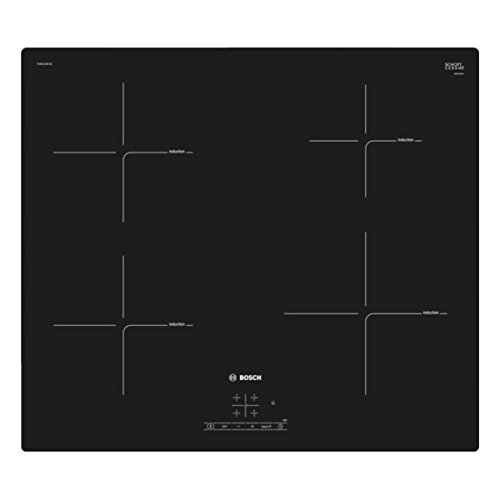 Bosch PUE611BF1B Serie 4 59cm Frameless Four Zone Induction Hob Black