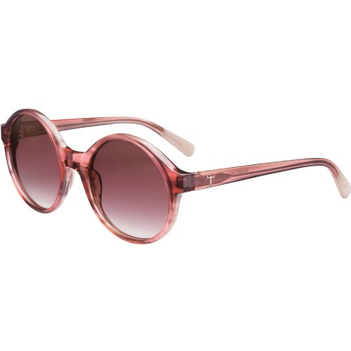 Triwa Women's Debbie Round Sunglasses, Pink Horn & Ivory Temple Tips, 55 - Sunglasses Triwa