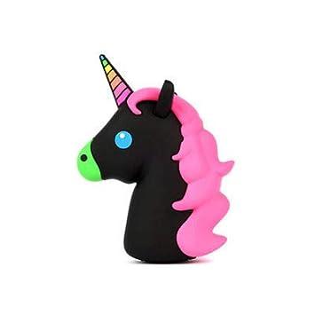 FidgetGear Cute Unicorn Cartoon Phone Power Bank 18650 Battery Portable Case Charger Box Q Purple