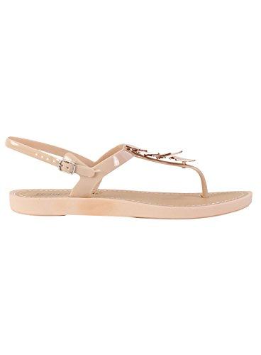 Damen Flache Sandalen Damen Sommer Strand Ankle Strap Schuhe Sandalen Beige