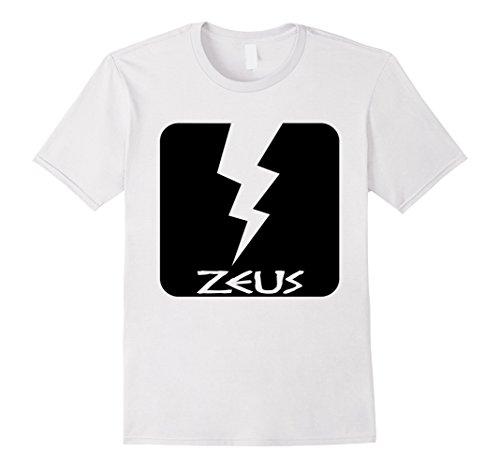 Mens Zeus T-Shirt Greek God Ancient Greece Lightning Bolt Tee XL White