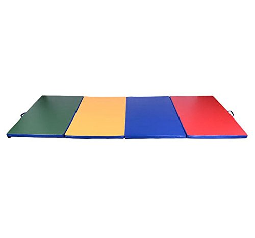 Multi-Color Gymnastics Mat 4' x 8' x 2'' Martial Arts Aerobics Exercise Yoga Tumbling Pad With Ebook by MRT SUPPLY