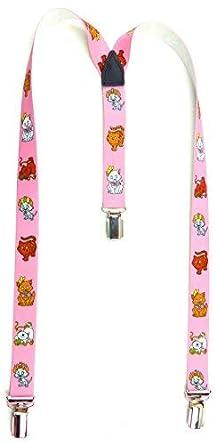 Evil Wear Kinder Hosenträger rosa Katzen Motiv 2-6 Jahre