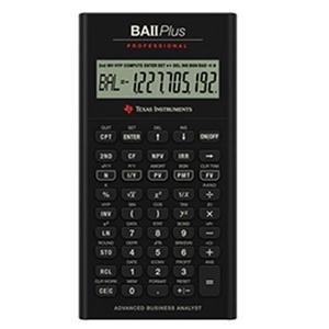 Texas Instruments TI BA II Plus Professional Financial - S Calculator