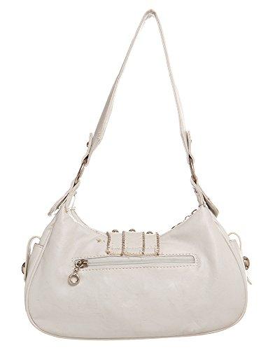 Handbag All by Lis Classic Handbags De White Fluer For Hobo Shoulder zBRqXTCn