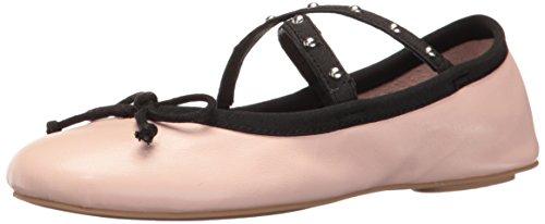 Steve Madden Women's Twirls Ballet Flat, Pink Leather, 8 M US by Steve Madden