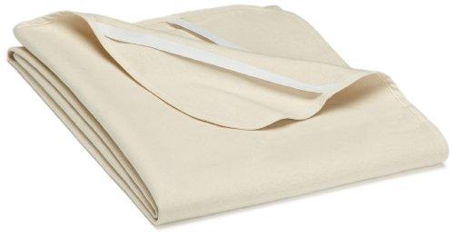 biberna 808301/555/142 Molton Matratzenauflage Premium Qualität, nach Öko-Tex Standard 100, ca. 90 x 200 cm, Farbe: natur