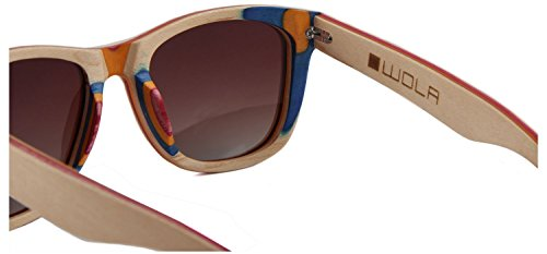 lunette rectangulaire soleil WOLA bois AIR Beige style lunettes de HanqdAv
