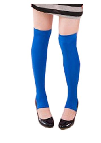 Sexy Stretchy Knee High / Leg Warmer Footless Tights XS ~ M in Royal Blue