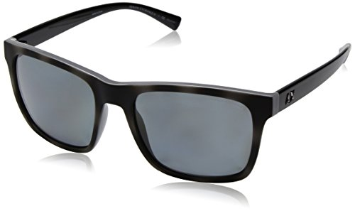Armani Exchange Men's Injected Man Polarized Square Sunglasses, Grey/Top Matte Grey Havana, 57 - Polarized Armani Sunglasses Emporio