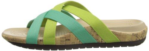 spearmint crisp Sandal Green Edie W Donna Sabot sandali Stretch Blu Crocs aOq6F