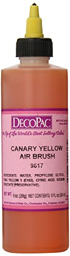 Canary Yellow Colour - DecoPac Airbrush Color, Canary Yellow, 8 ounce