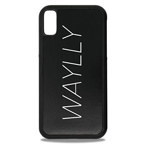 クライストチャーチ基礎すでにWAYLLY LOGO WHITE iPhone XR ケース くっつくケース ウェイリー Qi対応 米軍MIL衝撃吸収規格 耐衝撃 最新機種 スマホケース CLS