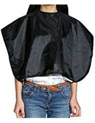 Anself Hair Cutting Cape Black Shampoo Cloth Hairdressing Salon Apron for Barbershop Water Resistant