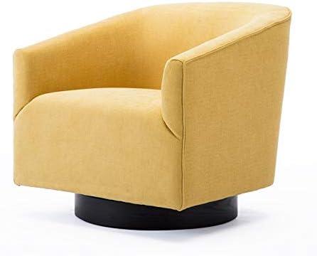Comfort Pointe Geneva Goldenrod Wood Base Swivel Chair