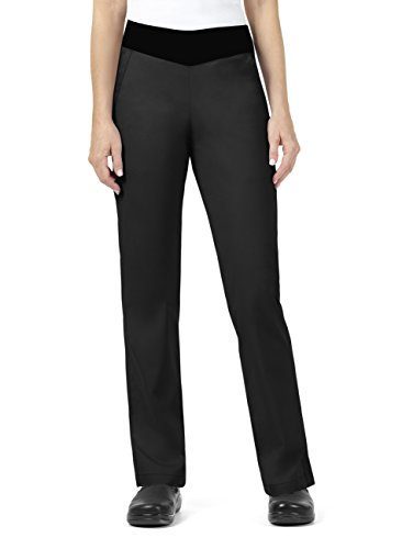 Vera Bradley Signature Collection Women's Jane Knit Waist Quilted Scrub Pant- Black- ()