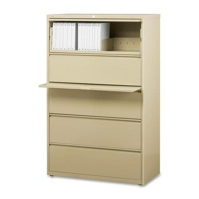 5-Drawer Telescoping Suspension Files Finish: Putty