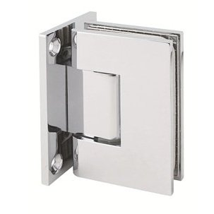 Mont Hard Wall to Glass Shower Hinge in Polished Chrome Finish for Framless Heavy Glass Shower Doors (Chrome Door Handles And Hinges compare prices)