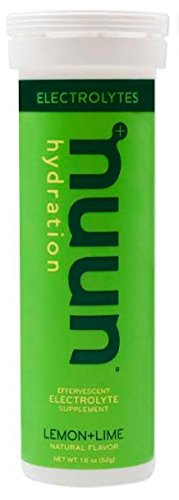New Nuun Active: Hydrating Electrolyte Tablets, Lemon Lime, Box of 8 Tubes by Nuun Active