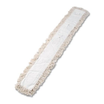 (Industrial Dust Mop Head, Hygrade Cotton, 60w x 5d, White )