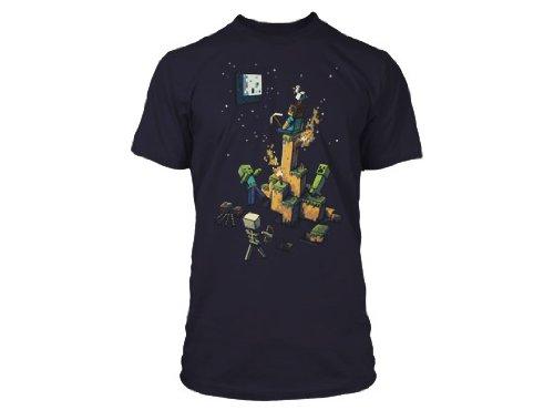 Minecraft Men's Tight Spot Premium T-Shirt, Navy, Medium