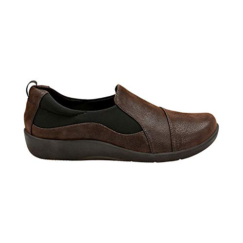 - Clarks Women's CloudSteppers Sillian Paz Slip-On Loafer, Dark Brown Synthetic Nubuck, 9.5 W US