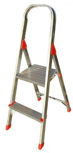 Louisville Ladder L-2346-02 200-Pound Duty Rating Euro Aluminum Platform Ladder, 2-Foot